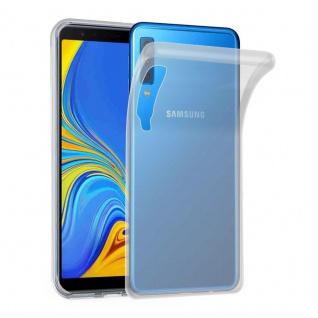 Cadorabo Hülle für Samsung Galaxy A7 2018 in VOLL TRANSPARENT Handyhülle aus flexiblem TPU Silikon Silikonhülle Schutzhülle Ultra Slim Soft Back Cover Case Bumper