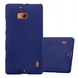 Cadorabo Hülle für Nokia Lumia 929 / 930 in FROST DUNKEL BLAU - Handyhülle aus flexiblem TPU Silikon - Silikonhülle Schutzhülle Ultra Slim Soft Back Cover Case Bumper