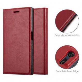 Cadorabo Hülle für Sony Xperia X Compact in APFEL ROT Handyhülle mit Magnetverschluss, Standfunktion und Kartenfach Case Cover Schutzhülle Etui Tasche Book Klapp Style - Vorschau 2