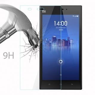 Cadorabo Panzer Folie für Xiaomi Mi 3 - Schutzfolie in KRISTALL KLAR - Gehärtetes (Tempered) Display-Schutzglas in 9H Härte mit 3D Touch Kompatibilität - Vorschau 3