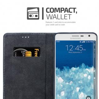 Cadorabo Hülle für Samsung Galaxy NOTE EDGE in DUNKEL BLAU BRAUN ? Handyhülle mit Magnetverschluss, Standfunktion und Kartenfach ? Case Cover Schutzhülle Etui Tasche Book Klapp Style - Vorschau 3