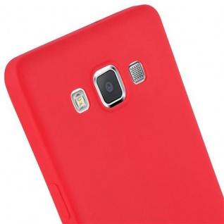 Cadorabo Hülle für Samsung Galaxy A5 2015 in CANDY ROT - Handyhülle aus flexiblem TPU Silikon - Silikonhülle Schutzhülle Ultra Slim Soft Back Cover Case Bumper - Vorschau 5