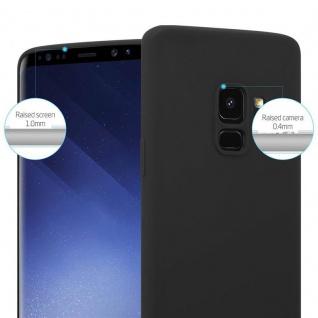 Cadorabo Hülle für Samsung Galaxy S9 in CANDY SCHWARZ - Handyhülle aus flexiblem TPU Silikon - Silikonhülle Schutzhülle Ultra Slim Soft Back Cover Case Bumper - Vorschau 5