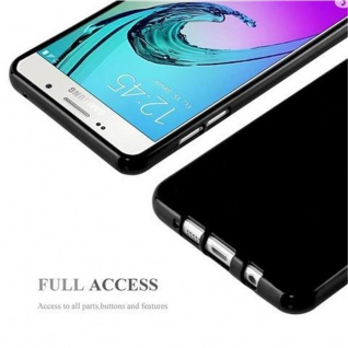 Cadorabo Hülle für Samsung Galaxy A5 2015 in JELLY SCHWARZ - Handyhülle aus flexiblem TPU Silikon - Silikonhülle Schutzhülle Ultra Slim Soft Back Cover Case Bumper - Vorschau 4