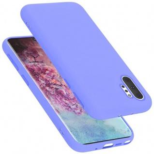 Cadorabo Hülle für Samsung Galaxy NOTE 10 PRO in LIQUID HELL LILA Handyhülle aus flexiblem TPU Silikon Silikonhülle Schutzhülle Ultra Slim Soft Back Cover Case Bumper