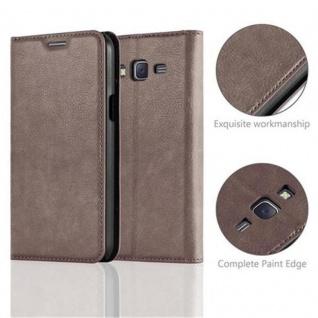 Cadorabo Hülle für Samsung Galaxy J5 2015 in KAFFEE BRAUN - Handyhülle mit Magnetverschluss, Standfunktion und Kartenfach - Case Cover Schutzhülle Etui Tasche Book Klapp Style - Vorschau 2