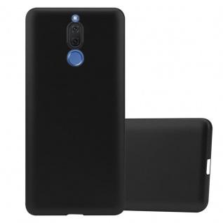 Cadorabo Hülle für Huawei MATE 10 LITE in METALLIC SCHWARZ - Handyhülle aus flexiblem TPU Silikon - Silikonhülle Schutzhülle Ultra Slim Soft Back Cover Case Bumper