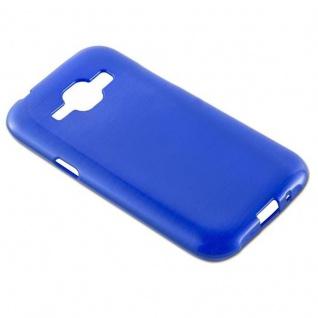 Cadorabo Hülle für Samsung Galaxy J1 2015 in BLAU - Handyhülle aus flexiblem TPU Silikon - Silikonhülle Schutzhülle Ultra Slim Soft Back Cover Case Bumper - Vorschau 3