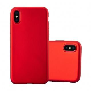 Cadorabo Hülle für Apple iPhone X / XS in METALLIC ROT - Handyhülle aus flexiblem TPU Silikon - Silikonhülle Schutzhülle Ultra Slim Soft Back Cover Case Bumper - Vorschau 1