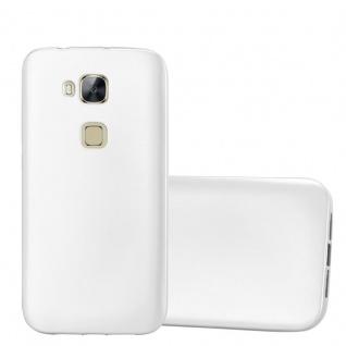 Cadorabo Hülle für Huawei G7 PLUS / G8 / GX8 in METALLIC SILBER - Handyhülle aus flexiblem TPU Silikon - Silikonhülle Schutzhülle Ultra Slim Soft Back Cover Case Bumper