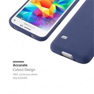 Cadorabo Hülle für Samsung Galaxy S5 MINI / S5 MINI DUOS in FROST DUNKEL BLAU Handyhülle aus flexiblem TPU Silikon Silikonhülle Schutzhülle Ultra Slim Soft Back Cover Case Bumper - Vorschau 2