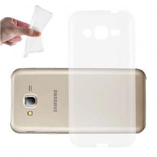 Cadorabo Hülle für Samsung Galaxy J2 2015 in VOLL TRANSPARENT Handyhülle aus flexiblem TPU Silikon Silikonhülle Schutzhülle Ultra Slim Soft Back Cover Case Bumper