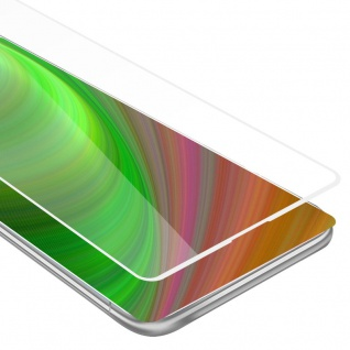 Cadorabo Vollbild Panzer Folie für Xiaomi Mi Mix 2 - Schutzfolie in TRANSPARENT mit WEISS - Gehärtetes (Tempered) Display-Schutzglas in 9H Härte mit 3D Touch Kompatibilität