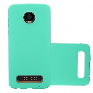 Cadorabo Hülle für Motorola MOTO Z2 PLAY in FROSTY GRÜN Hardcase Handyhülle aus Plastik gegen Kratzer und Stöße Schutzhülle Bumper Ultra Slim Back Case Hard Cover