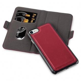 Cadorabo Hülle für Apple iPhone 7 / iPhone 7S / iPhone 8 - Hülle in GRANATAPFEL ROT ? Handyhülle im 2-in-1 Design mit Standfunktion und Kartenfach - Hard Case Book Etui Schutzhülle Tasche Cover - Vorschau 2