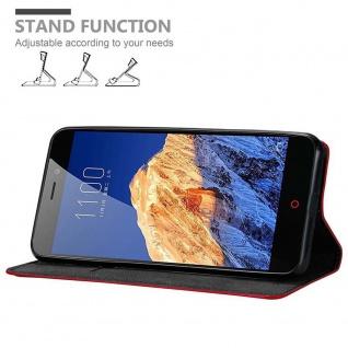 Cadorabo Hülle für ZTE Nubia N1 in APFEL ROT Handyhülle mit Magnetverschluss, Standfunktion und Kartenfach Case Cover Schutzhülle Etui Tasche Book Klapp Style - Vorschau 2