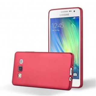 Cadorabo Hülle für Samsung Galaxy A5 2015 in METALLIC ROT - Handyhülle aus flexiblem TPU Silikon - Silikonhülle Schutzhülle Ultra Slim Soft Back Cover Case Bumper