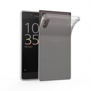 Cadorabo Hülle für Sony Xperia XZ / XZs - Hülle in VOLL TRANSPARENT ? Handyhülle aus TPU Silikon im Ultra Slim 'AIR' Design - Ultra Slim Soft Backcover Case Bumper