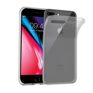 Cadorabo Hülle für Apple iPhone 8 PLUS / iPhone 7 PLUS / iPhone 7S PLUS in VOLL TRANSPARENT Handyhülle aus flexiblem TPU Silikon Silikonhülle Schutzhülle Ultra Slim Soft Back Cover Case Bumper