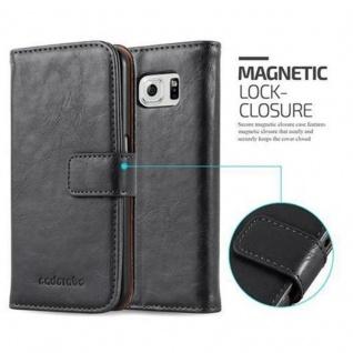 Cadorabo Hülle für Samsung Galaxy S6 in GRAPHIT SCHWARZ ? Handyhülle mit Magnetverschluss, Standfunktion und Kartenfach ? Case Cover Schutzhülle Etui Tasche Book Klapp Style - Vorschau 2