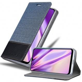 Cadorabo Hülle für Huawei P SMART PLUS in DUNKEL BLAU SCHWARZ Handyhülle mit Magnetverschluss, Standfunktion und Kartenfach Case Cover Schutzhülle Etui Tasche Book Klapp Style