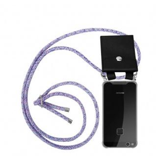 Cadorabo Handy Kette für Huawei P10 LITE in UNICORN - Silikon Necklace Umhänge Hülle mit Silber Ringen, Kordel Band Schnur und abnehmbarem Etui - Schutzhülle
