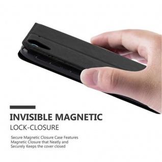 Cadorabo Hülle für HTC DESIRE 626G in NACHT SCHWARZ - Handyhülle mit Magnetverschluss, Standfunktion und Kartenfach - Case Cover Schutzhülle Etui Tasche Book Klapp Style - Vorschau 4