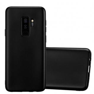 Cadorabo Hülle für Samsung Galaxy S9 PLUS in METALLIC SCHWARZ - Handyhülle aus flexiblem TPU Silikon - Silikonhülle Schutzhülle Ultra Slim Soft Back Cover Case Bumper