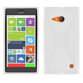 Cadorabo Hülle für Nokia Lumia 730 in HALB TRANSPARENT ? Handyhülle aus flexiblem TPU Silikon ? Silikonhülle Schutzhülle Ultra Slim Soft Back Cover Case Bumper