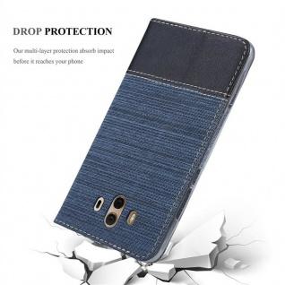 Cadorabo Hülle für Huawei MATE 10 in DUNKEL BLAU SCHWARZ - Handyhülle mit Magnetverschluss, Standfunktion und Kartenfach - Case Cover Schutzhülle Etui Tasche Book Klapp Style - Vorschau 5