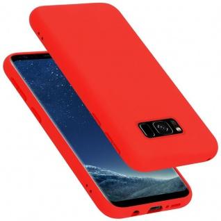 Cadorabo Hülle für Samsung Galaxy S8 in LIQUID ROT Handyhülle aus flexiblem TPU Silikon Silikonhülle Schutzhülle Ultra Slim Soft Back Cover Case Bumper