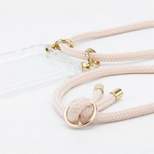Cadorabo Handy Kette für LG K50 in PERLIG ROSÉGOLD - Silikon Necklace Umhänge Hülle mit Gold Ringen, Kordel Band Schnur und abnehmbarem Etui ? Schutzhülle - Vorschau 3