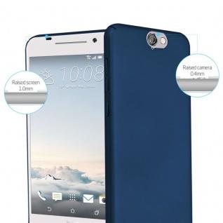 Cadorabo Hülle für HTC One A9 in METALL BLAU - Hardcase Handyhülle aus Plastik gegen Kratzer und Stöße - Schutzhülle Bumper Ultra Slim Back Case Hard Cover - Vorschau 2