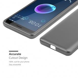 Cadorabo Hülle für HTC Desire 12 in METALLIC GRAU - Handyhülle aus flexiblem TPU Silikon - Silikonhülle Schutzhülle Ultra Slim Soft Back Cover Case Bumper - Vorschau 5
