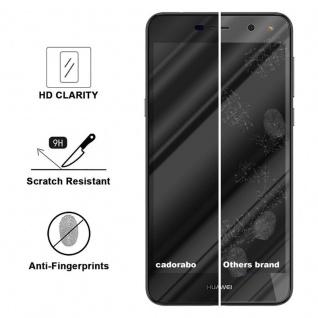 Cadorabo Vollbild Panzer Folie für Huawei Y6 2017 - Schutzfolie in TRANSPARENT mit SCHWARZ - Gehärtetes (Tempered) Display-Schutzglas in 9H Härte mit 3D Touch Kompatibilität - Vorschau 3