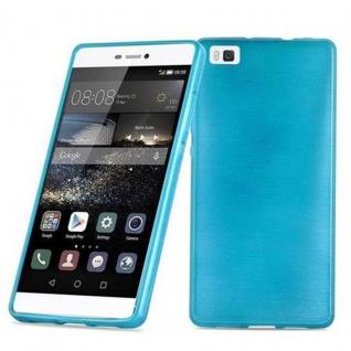 Cadorabo Hülle für Huawei P8 LITE 2015 in TÜRKIS - Handyhülle aus flexiblem TPU Silikon - Silikonhülle Schutzhülle Ultra Slim Soft Back Cover Case Bumper - Vorschau 1