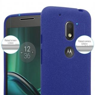 Cadorabo Hülle für Motorola MOTO G4 PLAY in FROST DUNKEL BLAU - Handyhülle aus flexiblem TPU Silikon - Silikonhülle Schutzhülle Ultra Slim Soft Back Cover Case Bumper - Vorschau 5