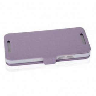 Cadorabo Hülle für HTC ONE MINI M4 (1.Gen.) - Hülle in ICY FLIEDER - Handyhülle mit Standfunktion und Kartenfach im Ultra Slim Design - Case Cover Schutzhülle Etui Tasche Book - Vorschau 3