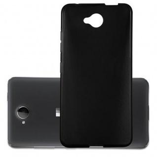 Cadorabo Hülle für Nokia Lumia 650 in SCHWARZ - Handyhülle aus flexiblem TPU Silikon - Silikonhülle Schutzhülle Ultra Slim Soft Back Cover Case Bumper