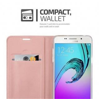 Cadorabo Hülle für Samsung Galaxy A3 2016 in CLASSY ROSÉ GOLD - Handyhülle mit Magnetverschluss, Standfunktion und Kartenfach - Case Cover Schutzhülle Etui Tasche Book Klapp Style - Vorschau 3
