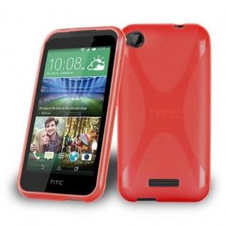 Cadorabo Hülle für HTC Desire 320 in INFERNO ROT - Handyhülle aus flexiblem TPU Silikon - Silikonhülle Schutzhülle Ultra Slim Soft Back Cover Case Bumper