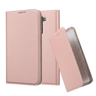 Cadorabo Hülle für LG Stylus 2 in CLASSY ROSÉ GOLD - Handyhülle mit Magnetverschluss, Standfunktion und Kartenfach - Case Cover Schutzhülle Etui Tasche Book Klapp Style