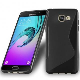 Cadorabo Hülle für Samsung Galaxy A7 2016 in OXID SCHWARZ - Handyhülle aus flexiblem TPU Silikon - Silikonhülle Schutzhülle Ultra Slim Soft Back Cover Case Bumper