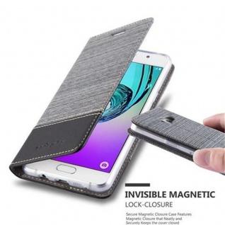 Cadorabo Hülle für Samsung Galaxy A3 2016 in GRAU SCHWARZ - Handyhülle mit Magnetverschluss, Standfunktion und Kartenfach - Case Cover Schutzhülle Etui Tasche Book Klapp Style