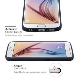 Cadorabo Hülle für Samsung Galaxy S6 - Hülle in BRUSHED BLAU - Handyhülle aus TPU Silikon in Edelstahl-Karbonfaser Optik - Silikonhülle Schutzhülle Ultra Slim Soft Back Cover Case Bumper - Vorschau 2