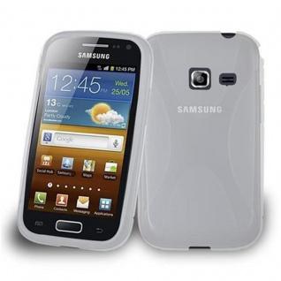 Cadorabo Hülle für Samsung Galaxy ACE DUOS in HALB TRANSPARENT ? Handyhülle aus flexiblem TPU Silikon ? Silikonhülle Schutzhülle Ultra Slim Soft Back Cover Case Bumper