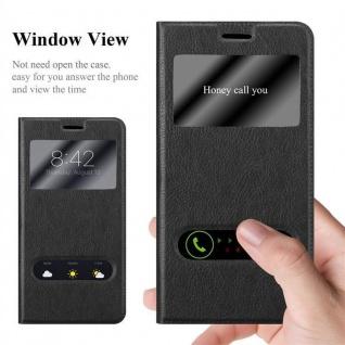 Cadorabo Hülle für Huawei MATE 8 in KOMETEN SCHWARZ - Handyhülle mit Magnetverschluss, Standfunktion und 2 Sichtfenstern - Case Cover Schutzhülle Etui Tasche Book Klapp Style - Vorschau 2