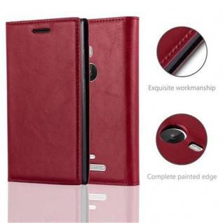 Cadorabo Hülle für Nokia Lumia 925 in APFEL ROT Handyhülle mit Magnetverschluss, Standfunktion und Kartenfach Case Cover Schutzhülle Etui Tasche Book Klapp Style - Vorschau 3