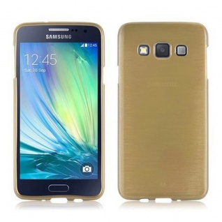 Cadorabo Hülle für Samsung Galaxy A3 2015 in GOLD - Handyhülle aus flexiblem TPU Silikon - Silikonhülle Schutzhülle Ultra Slim Soft Back Cover Case Bumper - Vorschau 2