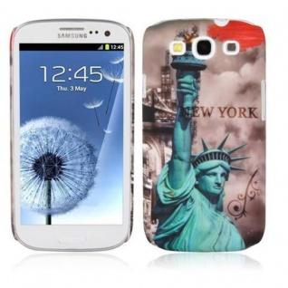 Cadorabo - Hard Cover für Samsung Galaxy S3 / S3 NEO - Case Cover Schutzhülle Bumper im Design: NEW YORK - FREIHEITSSTATUE